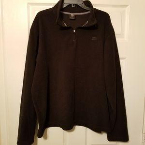 Starter fleece solid black 1/4 zip size xl